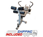 The Abs Company Abs Bench X2 Commercial Ab Machine with Dual Weight Horns