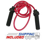 Ader Fitness 1 lb Red Heavy Power Jump Rope