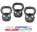 105 lb Set Premier Cast Iron Kettlebell