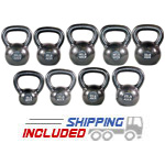 270 lb Set Premier Cast Iron Kettlebell