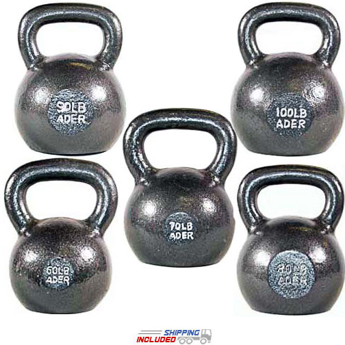 400 lb Set Premier Cast Iron Kettlebell