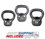 45 lb Set Premier Cast Iron Kettlebell