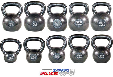 550 lb Set Premier Cast Iron Kettlebell