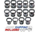 725 lb Set Premier Cast Iron Kettlebell