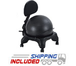 Aeromat 75002 Adjustable Fit Ball Chair with Pump
