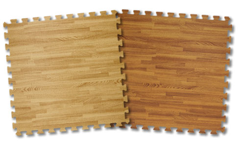 wood foam tile