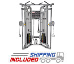 Dual Adjustable Pulley Functional Trainer Gym