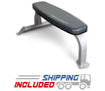 BodyCraft F600 Deluxe Utility Flat Bench with Wheels