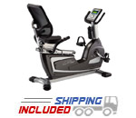 BodyCraft R25 Compact Semi-Recumbent Exercise Bike w/ Step Through Design
