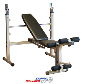 Best Fitness BFOB10 Folding Olympic Bench for Home Gyms