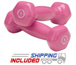 Body Solid BSTVD Vinyl Dumbbell Sets