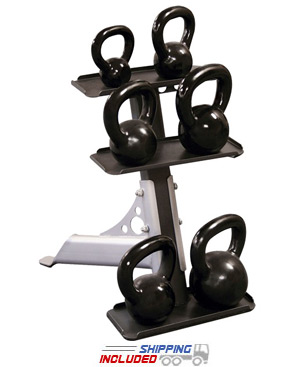 Body-Solid GDKR50 3-Pair Vertical Kettlebell Rack
