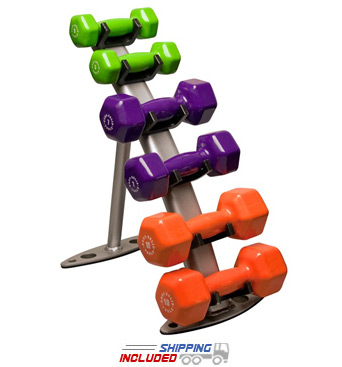 Body-Solid GDR10 3-Pair Aerobic Dumbbell Rack