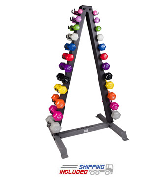 12-Pair Vertical Aerobic Dumbbell Rack