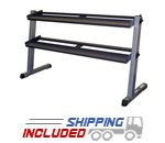 Body-Solid GDR60 Two Tier Horizontal Dumbbell Rack with Angle Iron
