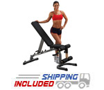 Body Solid GFID31 Flat Incline Decline Bench with Leg Rollers