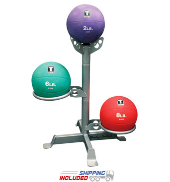 Body-Solid GMR5 Free Standing 3-Ball Medicine Ball Rack