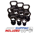 Body Solid KBCS Rubber Coated Kettlebell Set