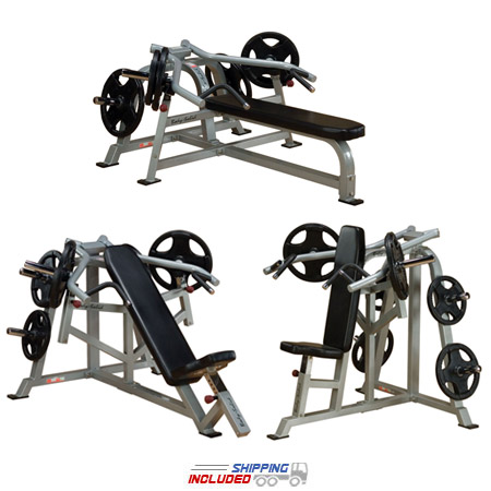 Body Solid Plate Loaded Leverage Press Machine Package for Gyms