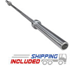 7 ft. Premium Olympic Power Bar Stainless