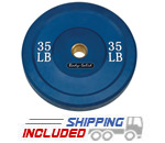 Colored Olympic Rubber Bumper Plates (Blue) - 35 lb pair