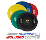 260 lb. Package Colored Olympic Rubber Bumper Plates