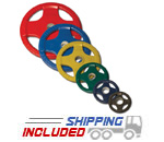1260 lb. Colored Rubber Grip Olympic Plate Package