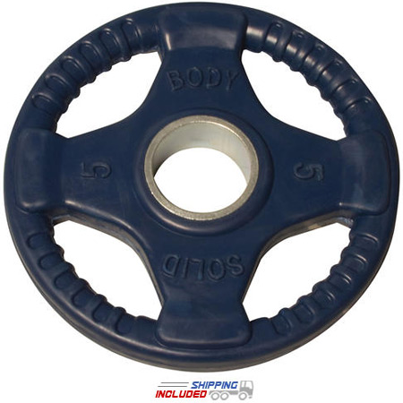 Colored Rubber Grip Olympic Plate