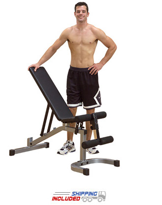 Powerline PFID130X Flat / Incline / Decline Bench for Weight Lifting
