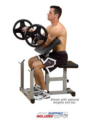 Powerline PPB32x Preacher Curl Bench for Bicep Training