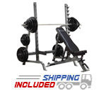 Commercial Bench / Squat Rack Combo Package
