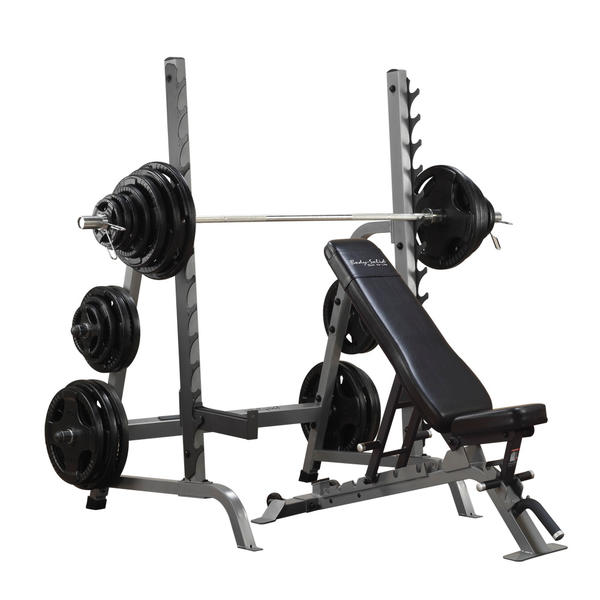 Commercial Bench Squat Rack Combo Package Body Solid Sdib370