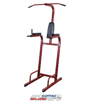 Best Fitness BFVK10R Vertical Knee Raise Tower by Body-Solid for Home Gym