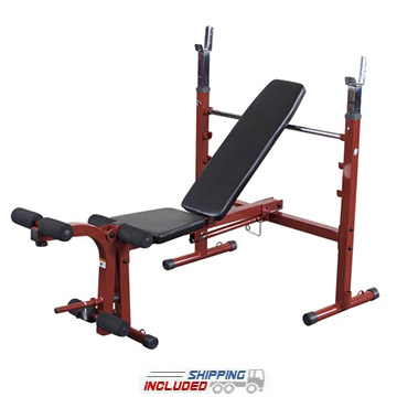 Best Fitness BFOB10R Folding Olympic Bench for Home Gyms