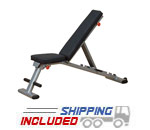 Body-Solid GFID225 Folding Flat Incline Decline Adjustable Weight Bench