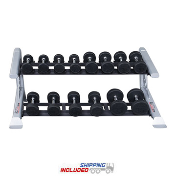 Body-Solid SDKR500P1 2-Tier Saddle Dumbbell Rack for Commercial Gyms