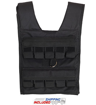 Body-Solid BSTWV Adjustable Weighted Vest for Cross-Training