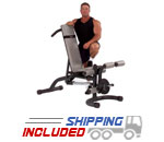 Body-Solid FID46 Adjustable Weight Lifting Bench with Leg Developer