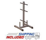 Body-Solid GSWT Standard Weight Plate Tree & Standard Bar Holder