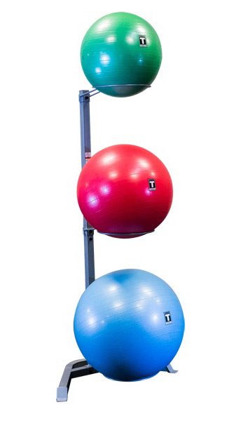 Body Solid GSR10 Stability Ball Storage Rack To Hold 3