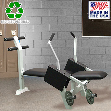 Bomb Proof BP-16 Plate Loaded Commercial Ab Crunch Machine