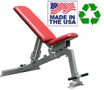 American Made Bomb Proof BP-14 Commercial Multi-Angle Weight Lifting Bench