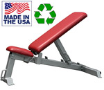 USA Made Bomb Proof BP-7 Flat to Incline Utility Bench with Transport System