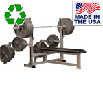 Bomb Proof BP-1-13-15 Olympic Bench with Plate Storage and Spotter's Stand