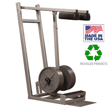 Bomb Proof BP-115A Plate Loaded Standing Calf Raise with Adjustable Height Shoulder Pads for Commercial Gyms