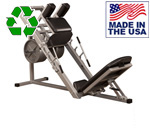 Bomb Proof BP-20A Plate Loaded Commercial Leg Press with Roller Carriage System
