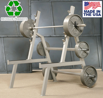 Bomb Proof BP-42A Angled Squat Rack with Weight Plate Storage