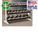 American Made Bomb Proof BP-47 5' Three-Tier Dumbbell Rack