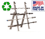 BOMB PROOF BP-50 Commercial Horizontal Olympic Bar Rack
