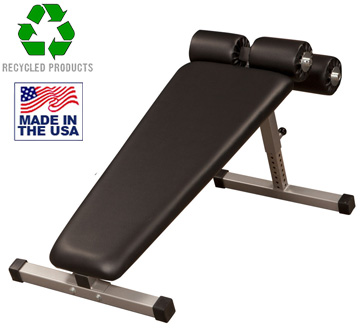USA Made Bomb Proof BP-9 Adjustable Decline Bench with Leg Rollers